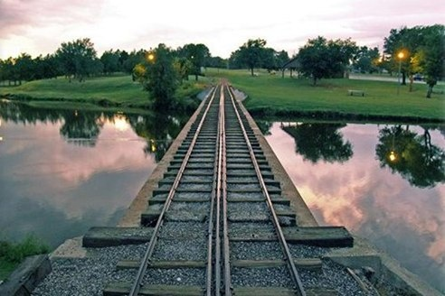 Meadowlake Park railroad tracks