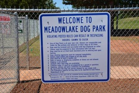 Meadowlake Dog Park Rules