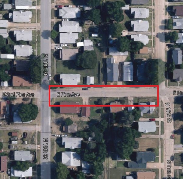 E Pine Ave Closed 2017-04-03