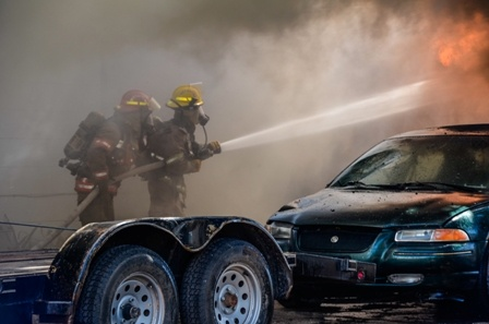 firefighting group on Rush