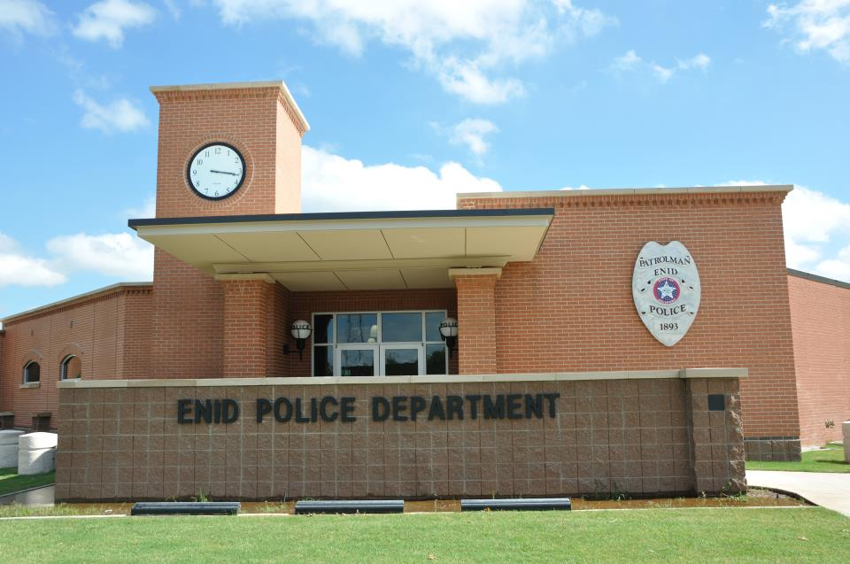 Enid Police Department Nightime Photo