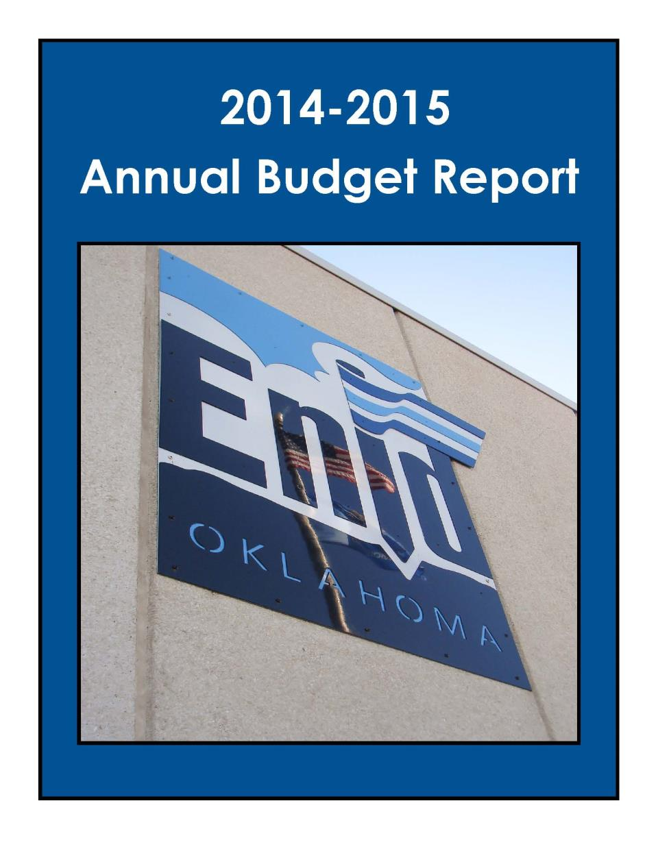2014-2015 Budget Cover