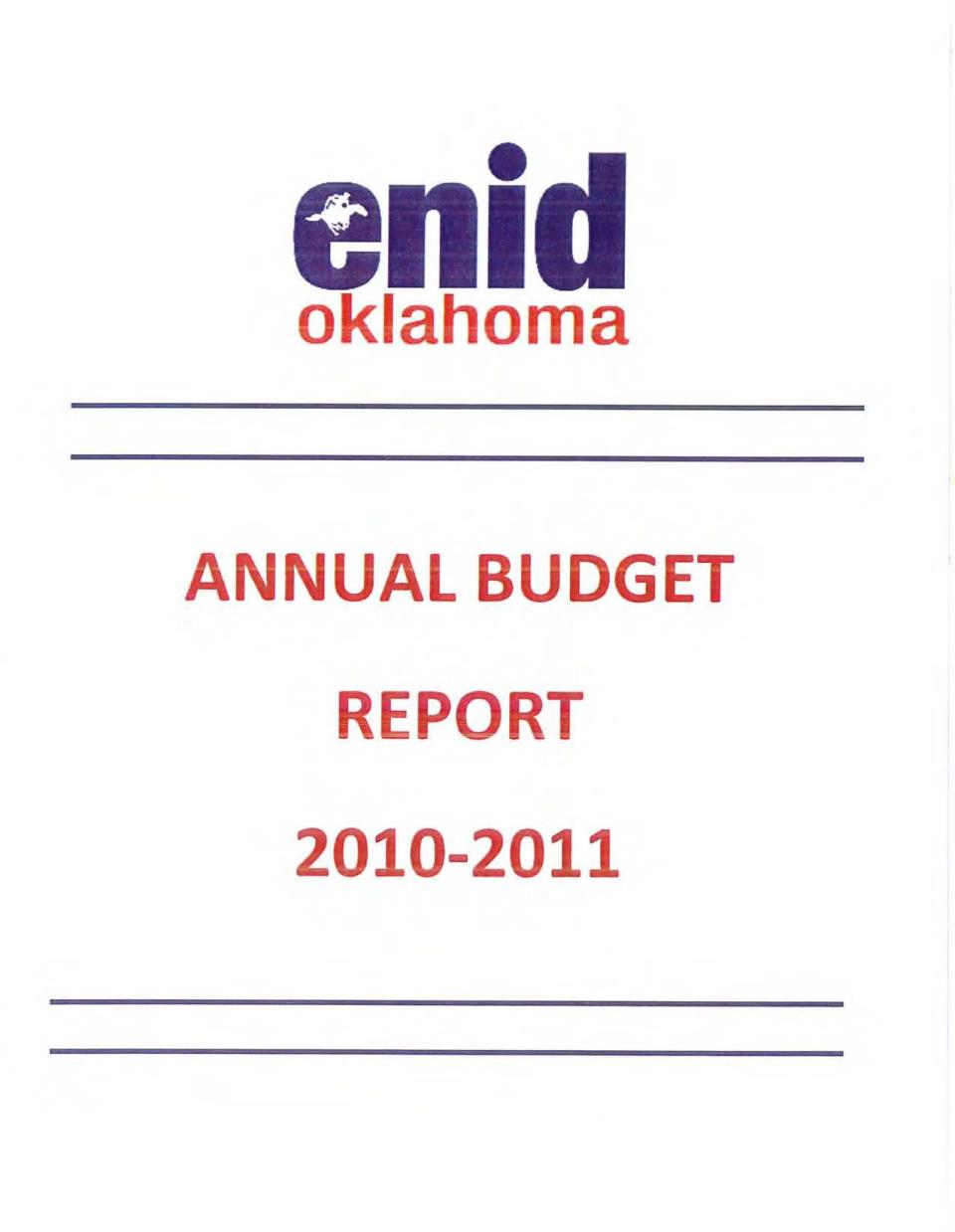 2010-2011 Budget Cover