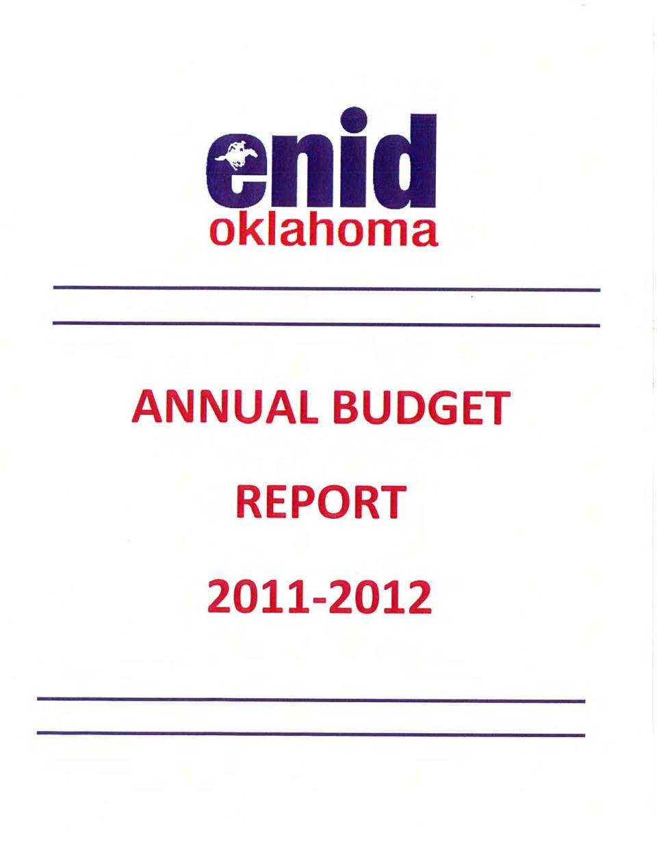 2011-2012 Budget Cover