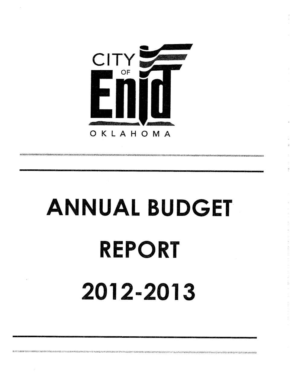2012-2013 Budget Cover