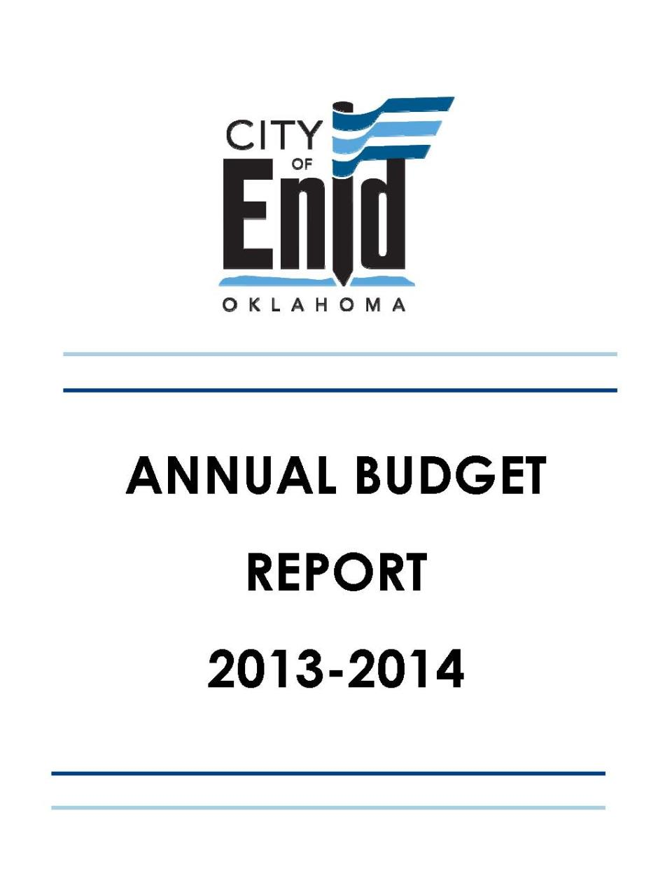 2013-2014 Budget Cover