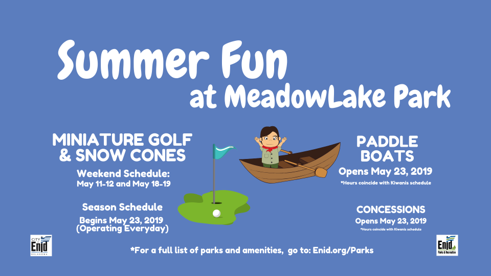 2019 Paddle Boats, Miniature Golf, Concessions, Snow Cones