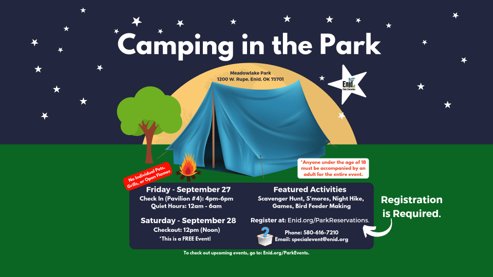 2019-09 Camping in the Park Flyer