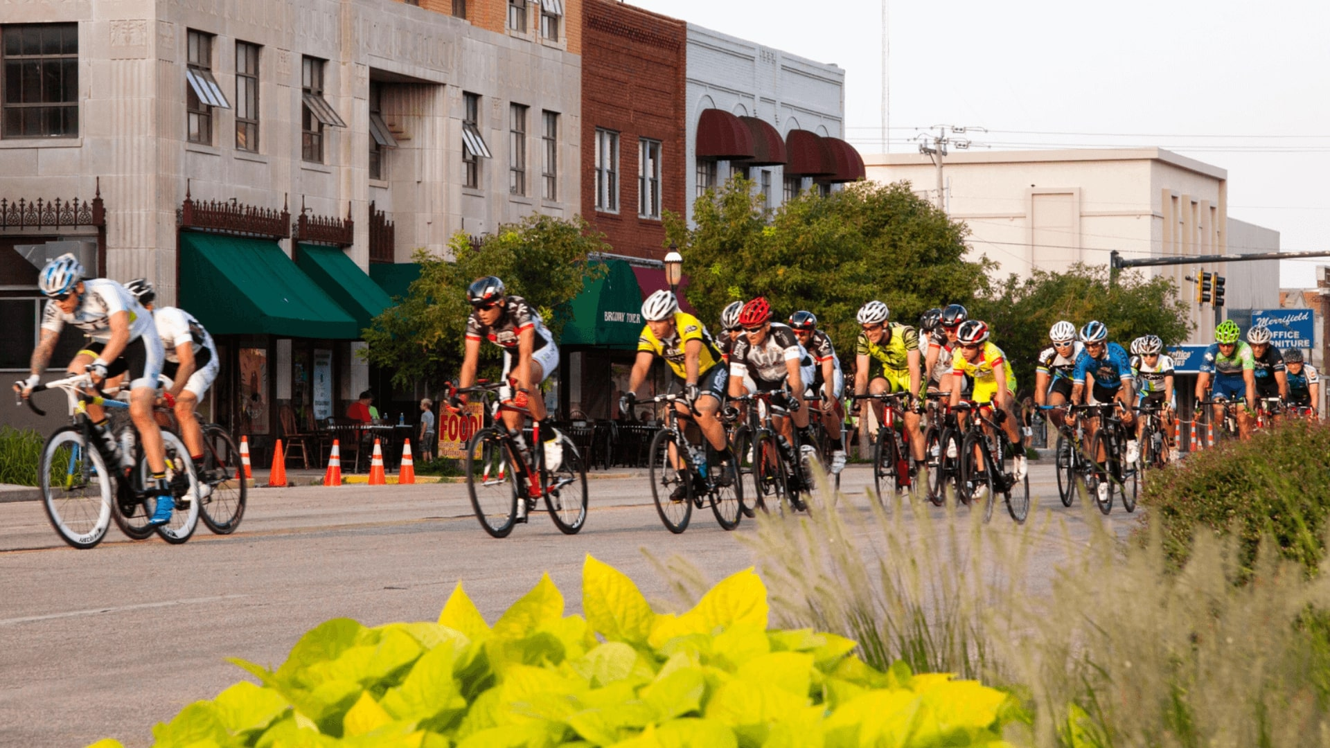 Bicycling in Downtown Enid