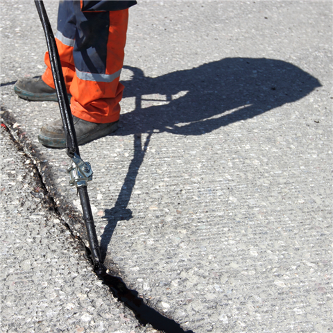 Crack Seal Roadway Project Resumes on West James Avenue
